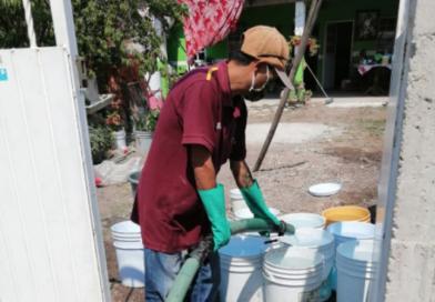 Mantienen suministro de Agua a zonas vulnerables en contingencia