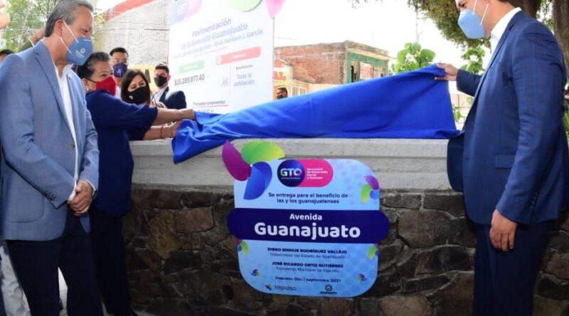 Inauguran rehabilitación de la avenida Guanajuato